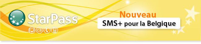 nouvelle offre sms+ pour la Belgique