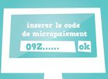 son code de paiement doit être saisi dans le site web à rentabiliser, monétiser