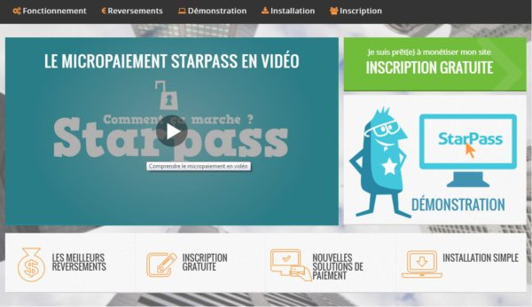 Nouvelle interface Starpass